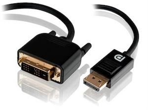 Alogic 2m Display Port to Single Link DVI-D Cable - Male to Male