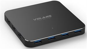 Volans 10-Port Aluminium USB 3.0 Powered Hub