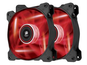 Corsair Air Series SP120 Red LED High Static Pressure Fans - Twin Pack