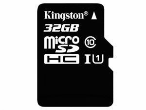 Kingston 32GB Micro SDHC Class 10 UHS-1 Flash Card With SD Adapter