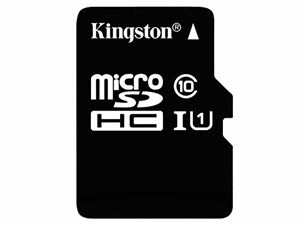 Kingston 64GB Micro SDHC Class 10 UHS-1 Flash Card With SD Adapter