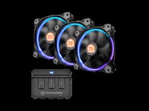 Thermaltake 14 Riing LED RGB High Static Pressure LED Radiator Fan - 3 Pack + Controller