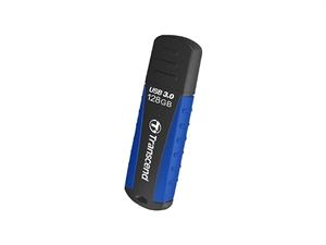 Transcend Jetflash®810 128GB Shock-Resistant USB3.0 Rubber Casing