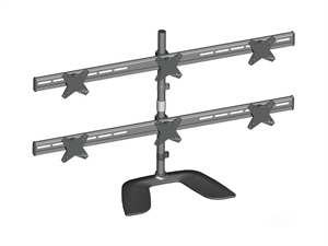 """Brateck Free Standing 13-24"""" Six LCD Monitors Stand Mount"""