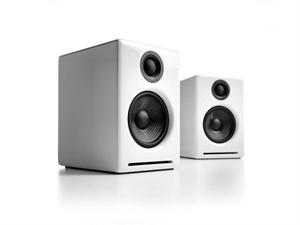 Audioengine 2+ Powered Desktop Speakers(Pair) - Hi-Gloss White