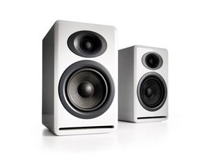 Audioengine P4 Passive Bookshelf Speakers(Pair) - Hi-Gloss White
