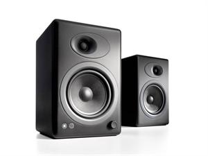 Audioengine 5+ Powered Bookshelf Speakers(Pair) - Satin Black