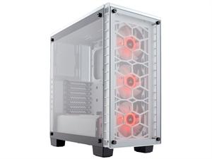 Corsair Crystal Series 460X RGB Compact ATX Mid-Tower Case - White