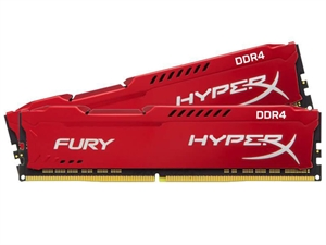 Kingston HyperX Fury 16GB (2x8GB) DDR4 2400Mhz Desktop RAM - Red