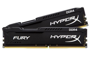 Kingston HyperX Fury 16GB (2x8GB) DDR4 2133MHz Desktop RAM - Black
