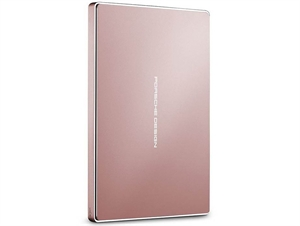 LaCie 2TB Porsche Design USB-C Portable Hard Drive - Rose Gold