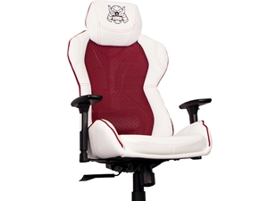 Karuza YX-0034 v2 Gaming Chair with Back Armor - White/Red