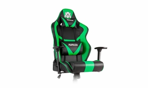 Karuza YX-802 Gaming Chair - Black/Green