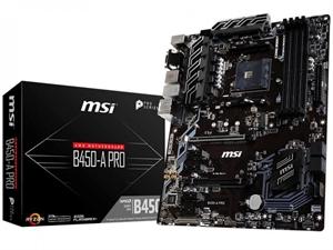 MSI B450-A PRO AM4 ATX Motherboard