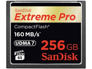 SanDisk 256GB Extreme Pro CompactFlash Memory Card