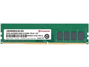 Transcend JetRam 8GB (1x8GB) DDR4 2666MHz Desktop RAM