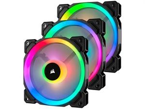 Corsair LL120 Dual Light Loop RGB LED 120mm PWM Fan - Three Pack with  Controller